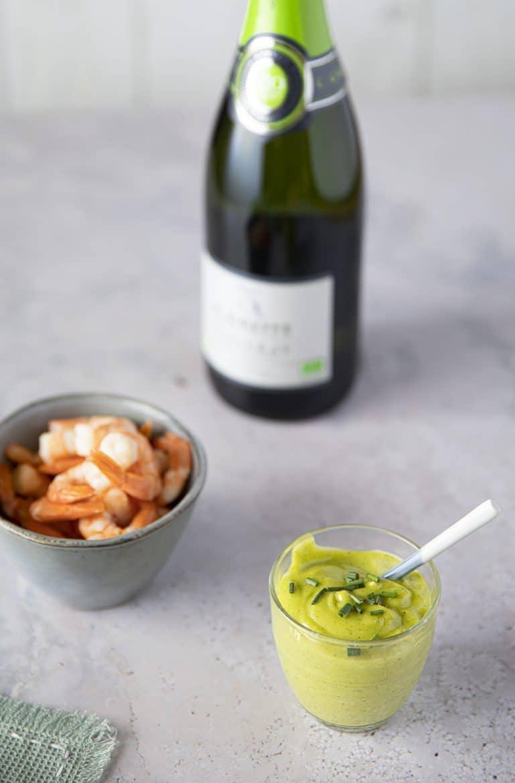 Recette de crevettes à la mayonnaise verte