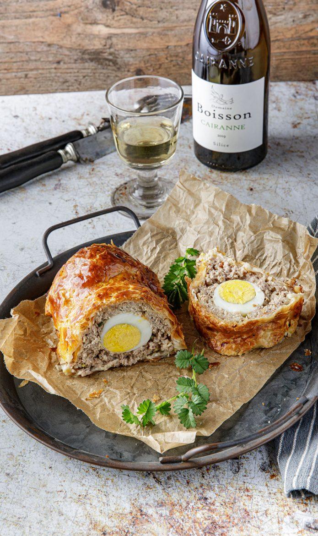 Pâté berrichon, la recette et vin Cairanne Blanc Domaine Boisson