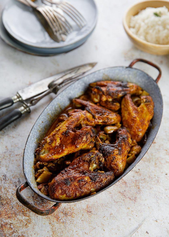 Ma recette de poulet rôti à la rhubarbe
