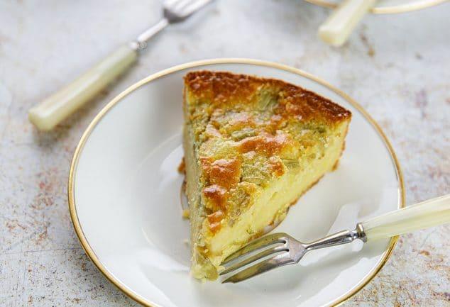 Recette de gâteau simple à la rhubarbe