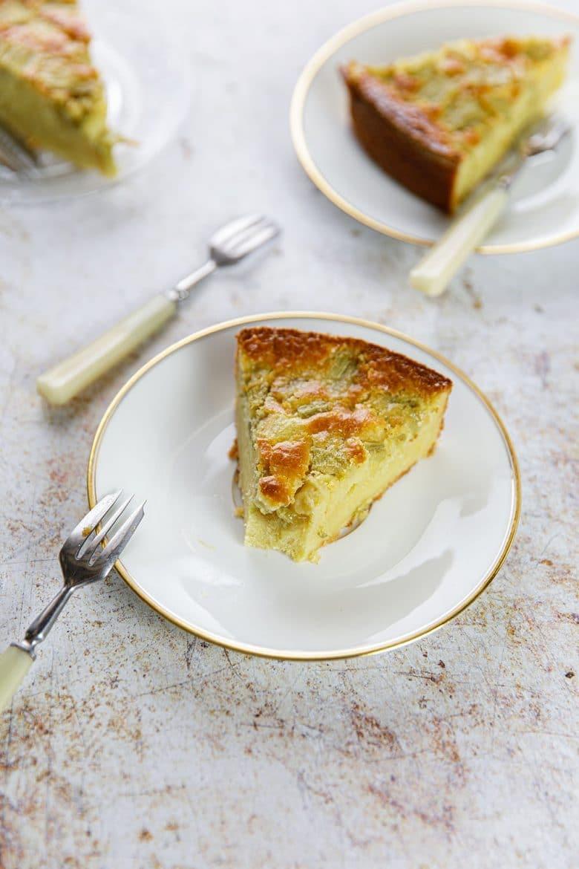 Recette simple de gâteau à la rhubarbe