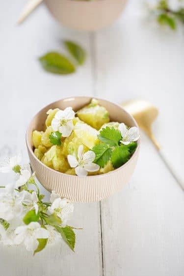 Ma recette de salade de pommes de terre à la mayonnaise.