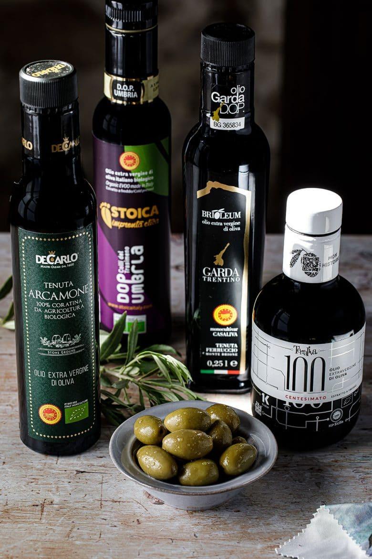 Exemple de 4 producteurs en DOP et IGP Huile d'olive italiennes