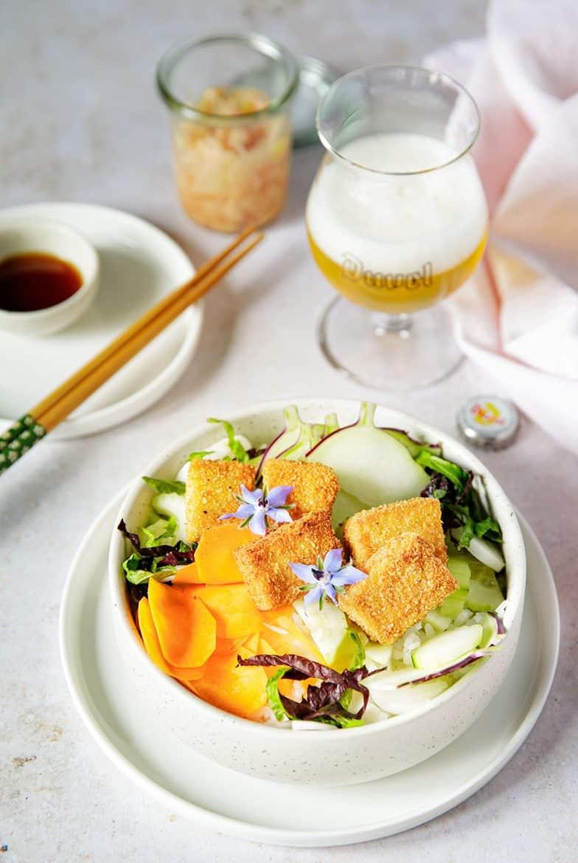 La délicieuse recette de buddha bowl au tofu frit