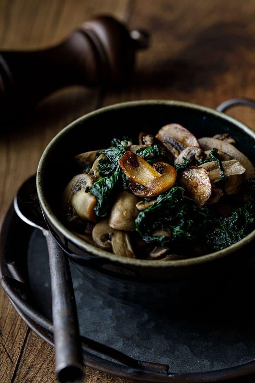 Ma délicieuse recette de champignons et épinards sautés