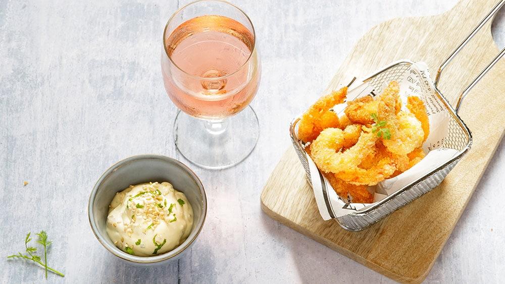 Recette de salade de vermicelles Thaï et crevettes panées au panko
