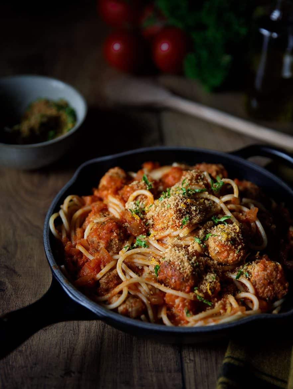 Spaghetti aux boulettes d'agneau et sauce tomate, la recette
