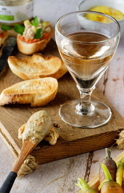 Verre de vin orange Les Jamelles