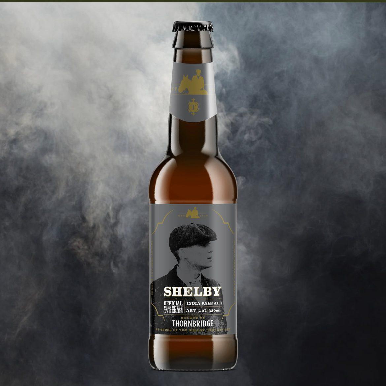 La bouteille de la bière IPA Shelby de la brasserie Thornbridge